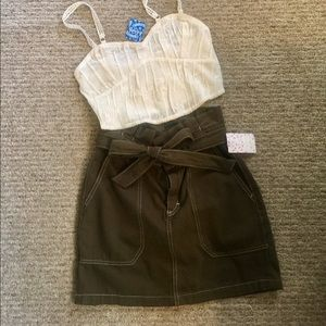 NWT Free People Utility Skirt Size 4